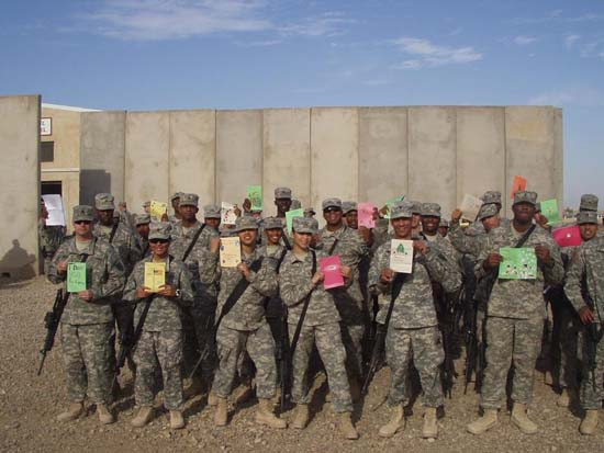 Soldiers with cards