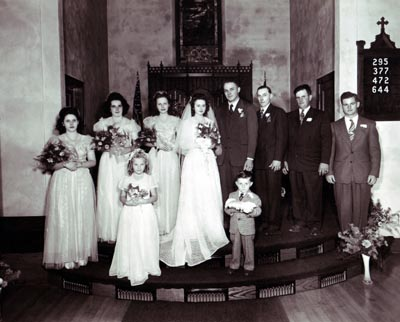 Arthur Lavern and Anita Gottsch Wedding