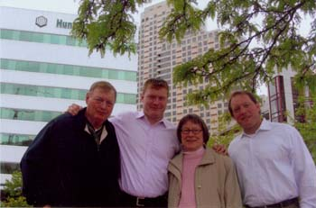 Donald, Dustin, Dixie Lee, Derek Anderson family