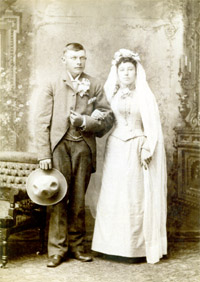 Frederick & Emma Adele Gottsch wedding photo