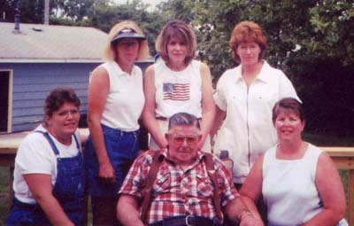 Myla, Marsha, Marilyn, Marge, Maxine and George King