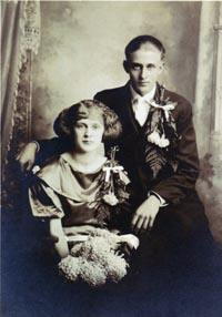 William Henry and Helen Goettsch Wedding Photo